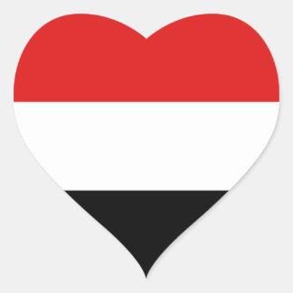Yemen Flag Heart Sticker