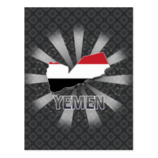 Yemen Flag Map 2.0 Postcard