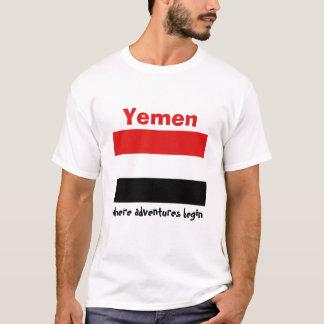 Yemen Flag + Map + Text T-Shirt
