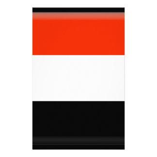 Yemen Flag Stationery Design