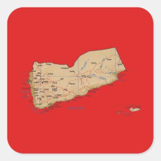 Yemen Map Sticker