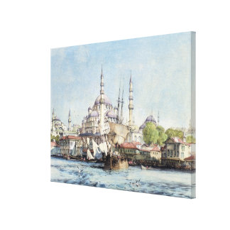 Yeni Jami and St. Sophia from the Golden Horn, pla Canvas Print