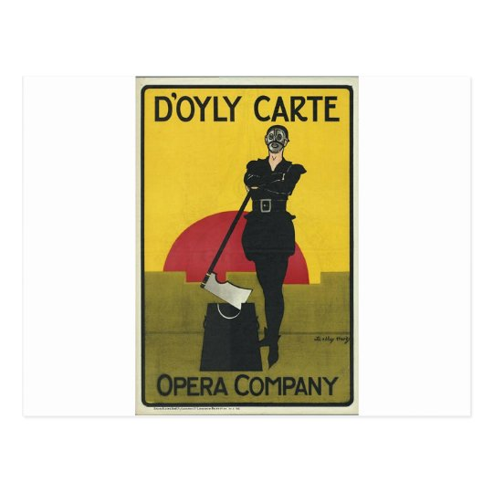 Yeoman of the Guard Vintage Opera Poster Postcard