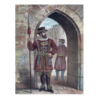 Yeoman Warder at the Tower of London Postcard