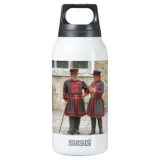 Yeoman warders, or beefeaters on duty