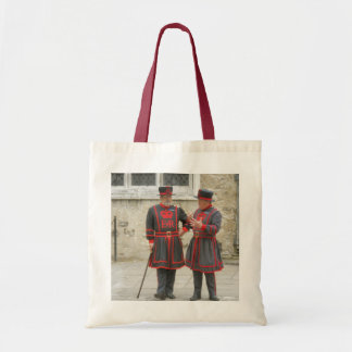 Yeoman warders, or beefeaters on duty bags