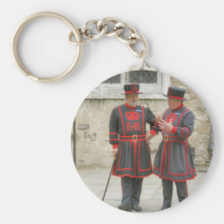 Yeoman warders or beefeaters on duty key chain