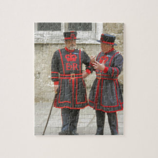 Yeoman warders, or beefeaters on duty puzzle