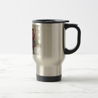 Yeoman warders, or beefeaters on duty stainless steel travel mug