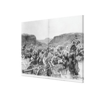 Yeomanry surprised in a drift canvas print