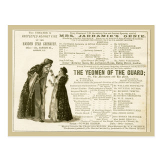 Yeomen of the Guard Cast Post Card