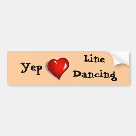 Yep Love Line Dancing Bumper Sticker