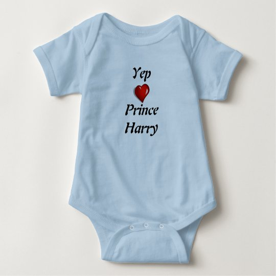Yep Love Prince Harry Baby Bodysuit