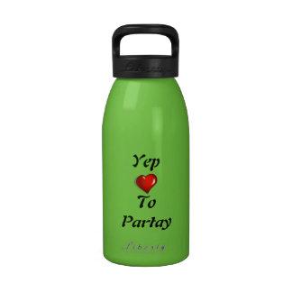Yep Love To Partay Drinking Bottles