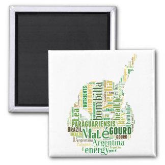 Yerba Mate Square Magnet