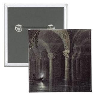 Yere Batan Serai (The Cisterns) Istanbul, engraved 15 Cm Square Badge