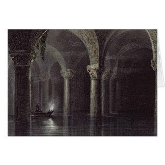 Yere Batan Serai (The Cisterns) Istanbul, engraved Greeting Card