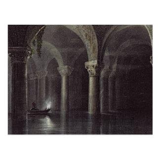 Yere Batan Serai (The Cisterns) Istanbul, engraved Postcard
