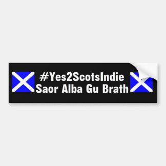 Yes2ScotsIndie - Car Bumper Sticker