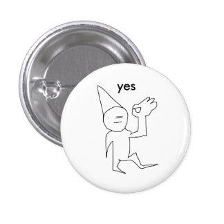 yes. 3 cm round badge