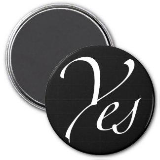 Yes 7.5 Cm Round Magnet