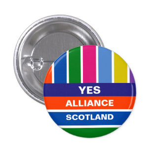 Yes Alliance Scotland Independence Stripe Badge Buttons
