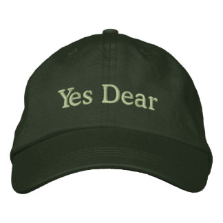 Yes Dear Cap for Groom Embroidered Hat