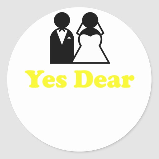 Yes Dear Round Stickers
