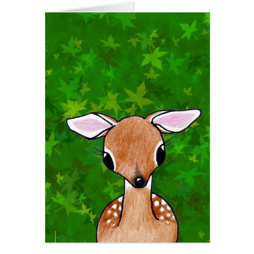 Yes Deer KiniArt Fawn Card