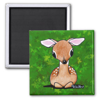 Yes Deer KiniArt Fawn Magnets