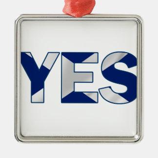 Yes Design Silver-Colored Square Decoration