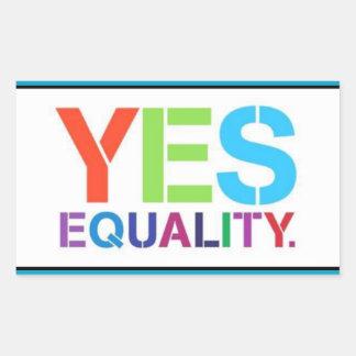 YES Equality Rectangular Sticker