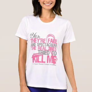 Yes Fake and Spectacular - Breast Cancer Tshirt