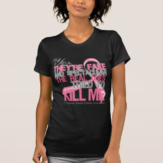 Yes Fake and Spectacular - Breast Cancer Tshirts