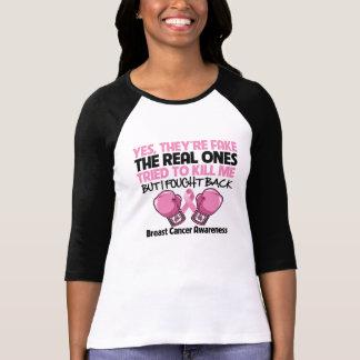 Yes Fake I Fought Back Breast Cancer Awareness Tshirts