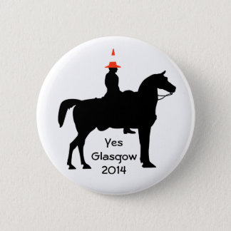 Yes Glasgow Scotland  Button Badge