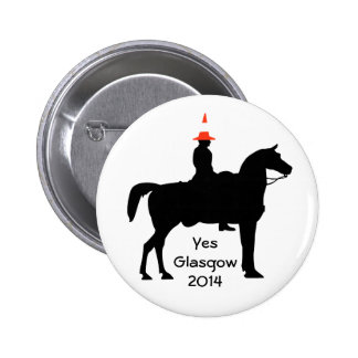 Yes Glasgow Scotland Button Badge