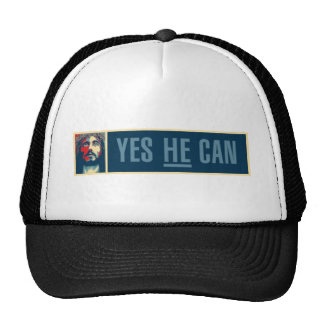 Yes HE Can - Baseball Cap - Long image Hat