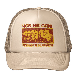 Yes He Can! Comrade Obama Spoof Cap