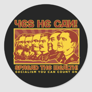 Yes He Can! Comrade Obama Spoof Classic Round Sticker