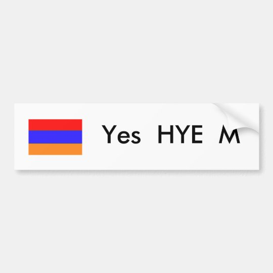 Yes Hye M - Bumper Sticker