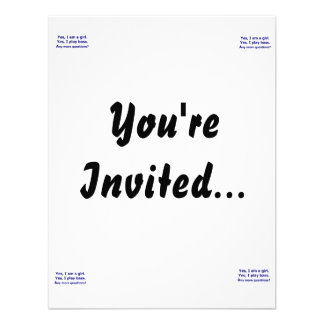 Yes I am a girl text only play bass dark blue Custom Invites