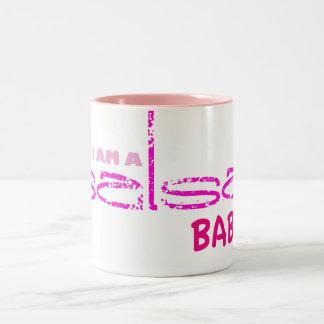 Yes, I Am a Salsa Baby Two-Tone Coffee Mug
