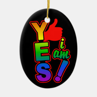 YES I AM ornament, customize Christmas Ornament