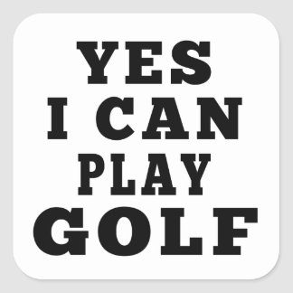 Yes I Can Play Golf Sticker