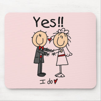 YES I Do Bride and Groom T-shirts and Gifts Mouse Mat