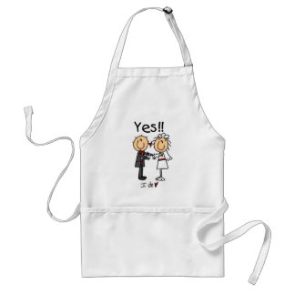 YES I Do Bride and Groom T-shirts and Gifts Standard Apron