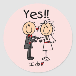 YES I Do Bride and Groom T-shirts and Gifts Stickers