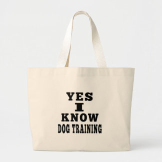 Yes I Know Dog Training Tote Bags