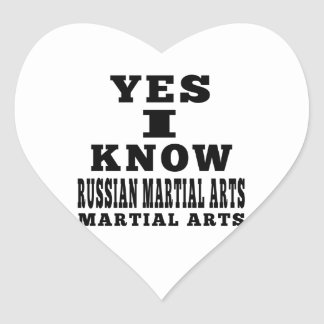 Yes I Know Russian Martial Arts Sticker